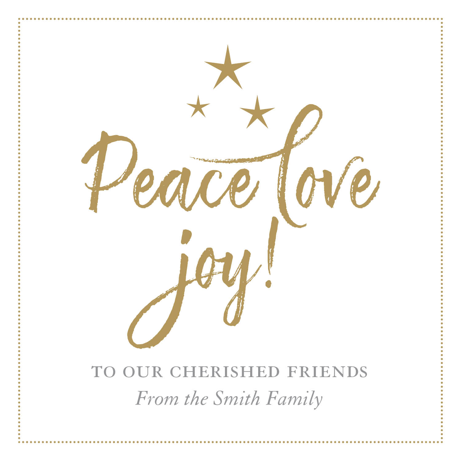 Peace, love, joy!