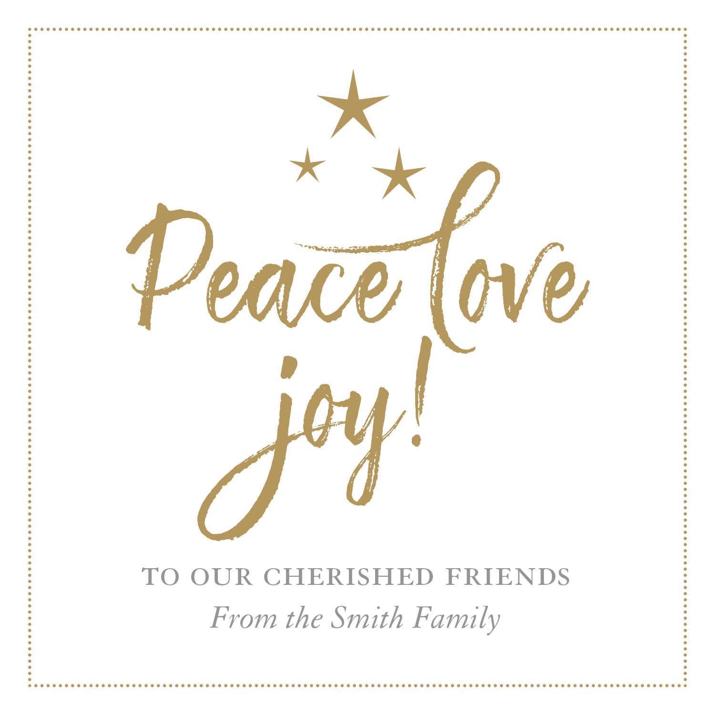Peace, love, joy!