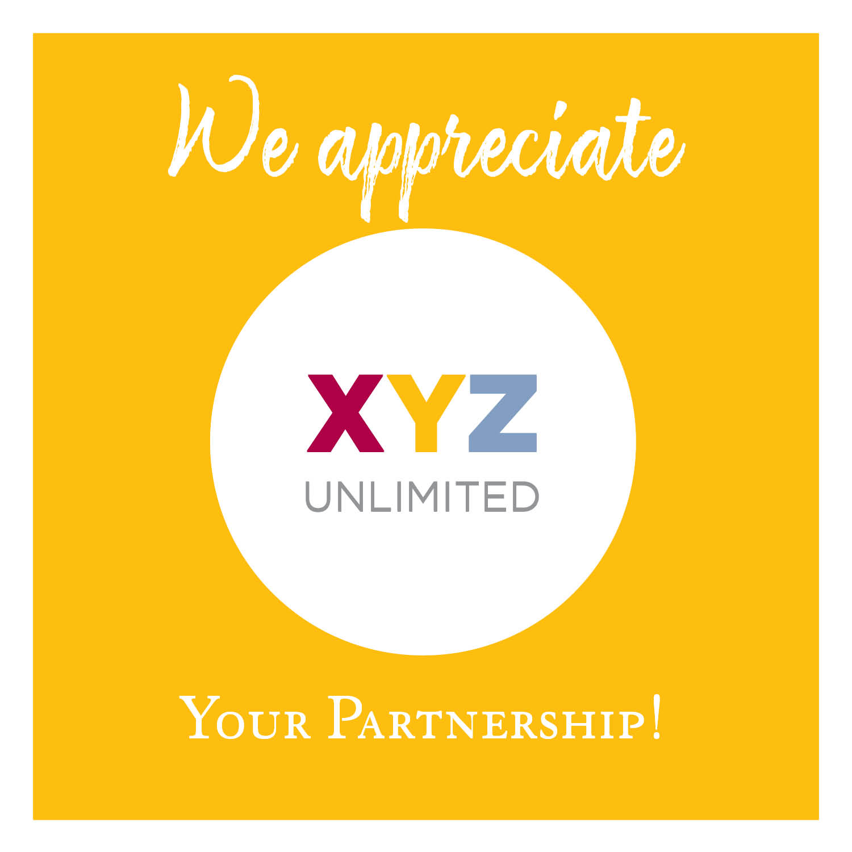 We appreciate your partnership!